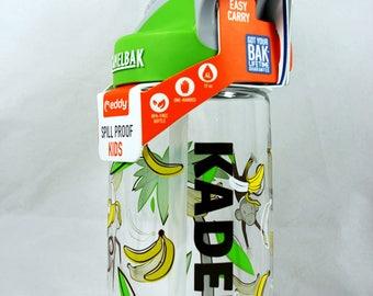 Personalized .4L Kid's Monkey Around CamelBak® Bottle - Water Bottle - Hydrate, Custom, Bite Valve, Toddler, Ape, Chimpanzee, Orangutan
