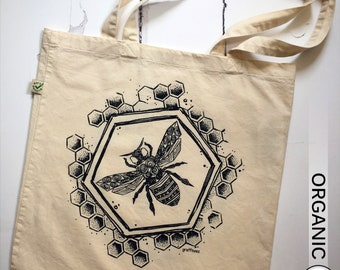 Earth Day 2018: #savethebees Tote Bag