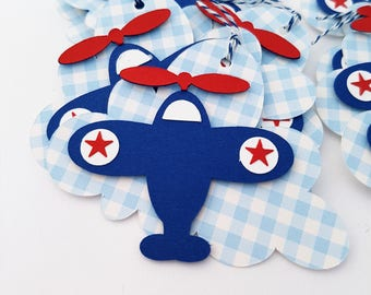 Airplane Baby Shower Tags. Airplane Party Favor Tags. Airplane Gift Tags. Airplane Party Decor, First Birthday Party