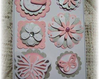 Layered Cardstock Embellishment for Tags,Journal,Scrapbook,Handmade Card.