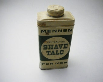 Vtg Mennen Tin Men's Shave Talc Neutral Tint For Men