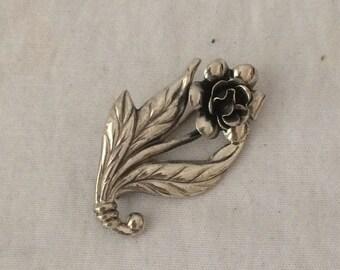 Vintage Danecraft Sterling Pin Dane Craft Sterling Silver Flower Pin Danecraft Brooch
