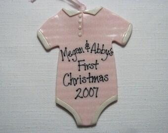 New Baby 'Onsie' Ornament