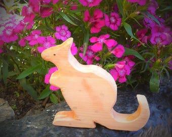 Kangaroo wooden toy