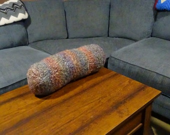 "16"" Faded Rainbow Coffee Table Foot Rest - Foot Pillow - Bolster Pillow - Decorative Pillows for Couch - Neck Pillow - Travel Pillow"