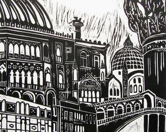 Venice print, Italy gift, Italy print, Italian wall art.