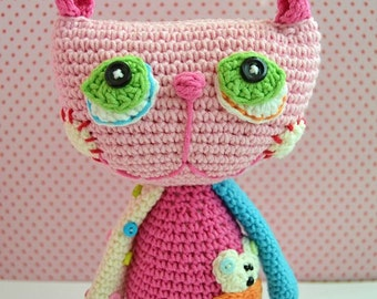 Crochet Pattern - Cat Lisa by VendulkaM /amigurumi, toy digital pattern/DIY