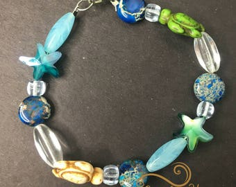 March Birthday Ester One of a  kind Treat yourself Best friend gift Summer Beaded Bracelet