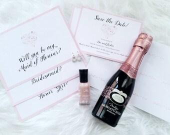 Floral Heart Wedding Invitation Suite