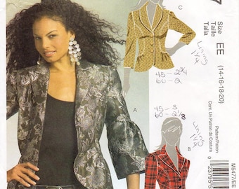 Sz 14/16/18/20 - McCall's Jacket Pattern M5477 - Misses' Semi-Fitted, Lined Jacket in Three Variations - McCall's Pattern