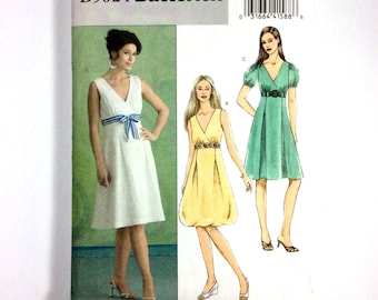 Butterick B5024, Women's Dress Pattern, Easy Plus Size Pattern, Size 14, 16, 18, 20, Uncut Pattern