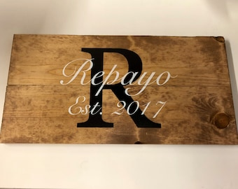 Last Name Wall Art. Last Name Wood Sign. Wood Sign. Farmhouse Decor.  Established Sign. Last Name Sign. Family Name Sign. Personalized Gift.