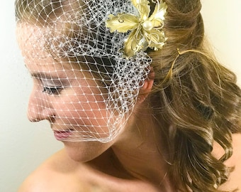 One-of-a-Kind Bird Cage Veil