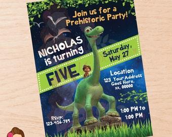 The Good Dinosaur, The Good Dinosaur invitation, The Good Dinosaur birthday, The Good Dinosaur Birthday, The Good Dinosaur invite, Digital
