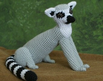 PDF Ring-Tailed Lemur amigurumi CROCHET PATTERN