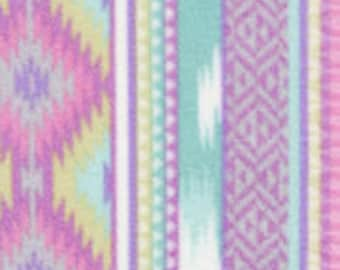 1 Set of Lavender Aztec Print, Seat Covers and Steering Wheel Cover Custom Made.