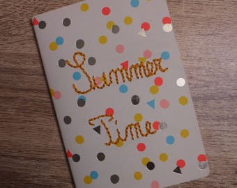 Notebook with Summer Time embroidery dots