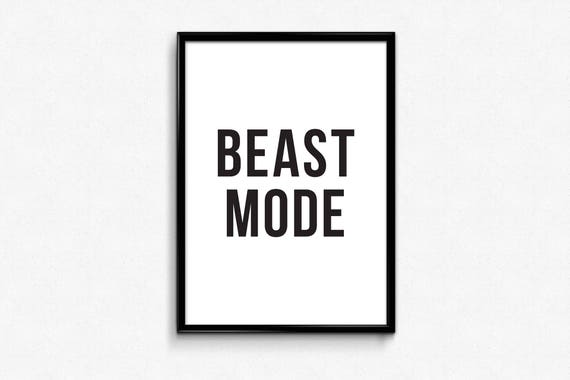 Workout posters workout printable gym motivation quote posters digital download black white prints gymnastics poster beast mode