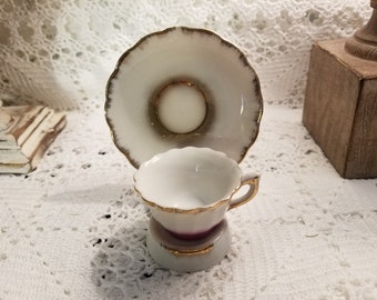 Mini tea cup and saucer with stand