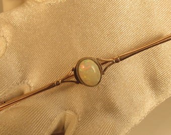 Vintage Brilliant Fire Opal Broach 10 K  @ A  Village Coin Bullion 4/2/2 B