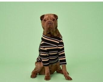 Dog shirt| Black Striped Ribbed Turtleneck shirt | Shirt for dog | Dog mom gift | Dog lover| Gift for dog lover|Dog mom|Dog gift|Dog t-shirt