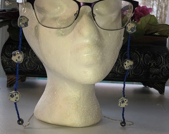 "28"" Beaded Eyeglass Holder with Cat Beads"