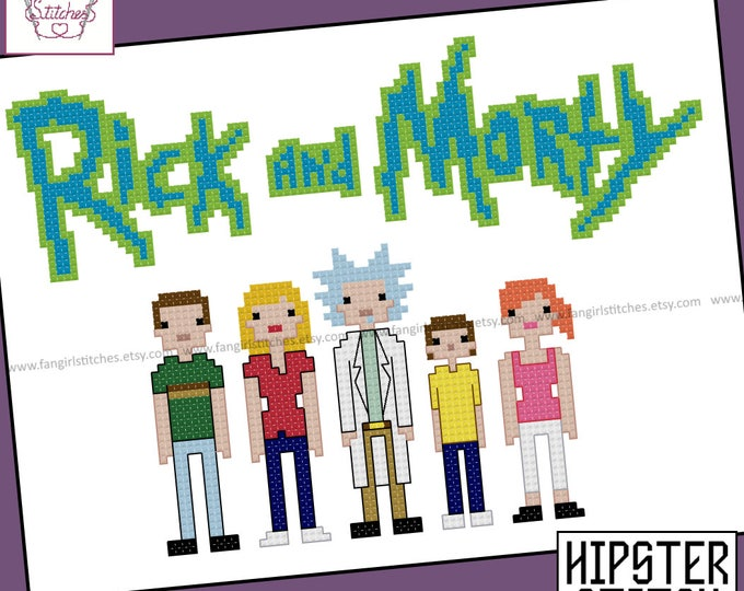 Rick and Morty Inspired Cross Stitch - PDF Pattern - INSTANT DOWNLOAD