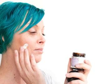 Calendula and Oat Facial Moisturizer - Face Cream with Sun Blocking Zinc, For Rosacea, Redness + Sensitive Skin, Vegan Creme, Face Cream