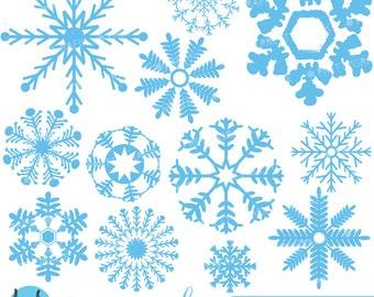 80% 0FF SALE Snowflakes clipart commercial use, vector graphics, digital clip art, digital images  - CL592