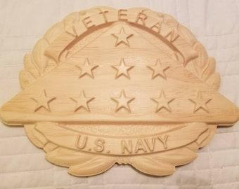 "8.7"" x 11.5"" US Navy Veteran Folded Flag"