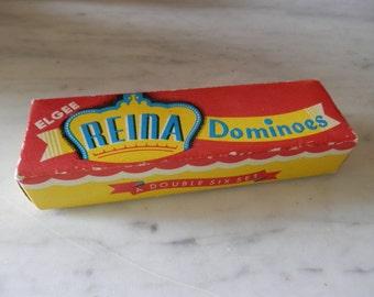 Vintage Reina Dominoes by Elgee 1950