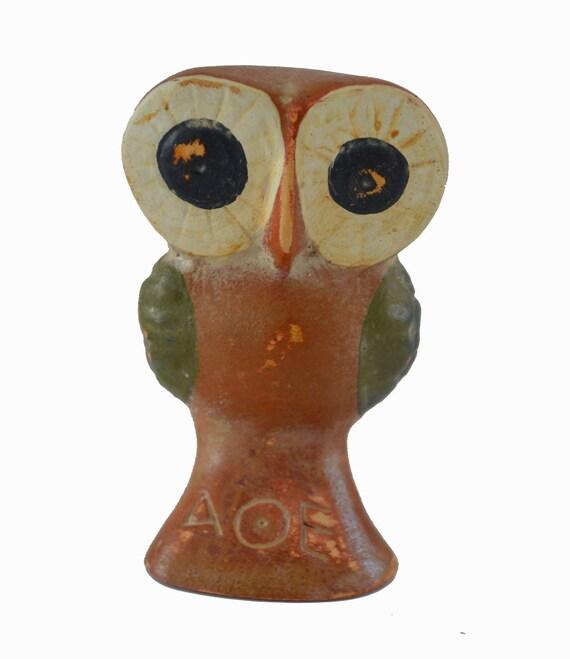 Owl Miniature Ancient Greek Symbol Of Wisdom Sculpture