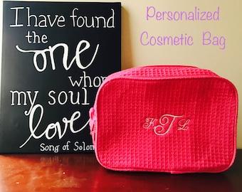 Cosmetic case, up bag, makeup bag, make up bag, personalized bag, personalized make up, monogrammed make up bag, Brides maid cosmetic bag