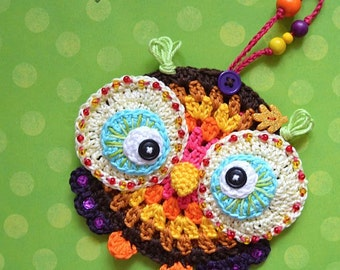 Crochet pattern - Owl ornament by VendulkaM/ Autumn decoration / Digital tutorial / pdf