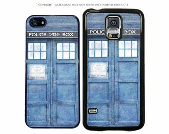 Doctor Who Tardis Rustic Phone Case Apple iPhone 7, 7 Plus, iPhone 8, Galaxy S8, S8 Plus, S7, S7 Edge, S6, LG G6, Google Pixel, XL, Note 8