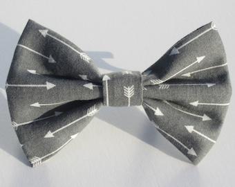 White Arrows on Graphite Bow Tie