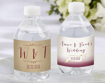 Vineyard Theme Water Bottle Labels  (Set of 24)