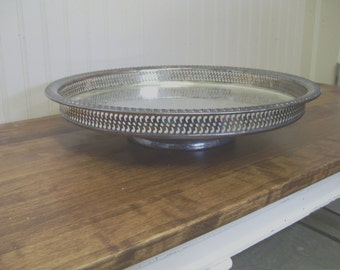 Vintage WM Rogers Silverplate Lazy Susan \/ Cake Stand