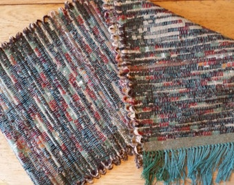 Fall and Winter in the Forrest: Wool Handwoven Table Runner