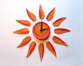 Sun wall clock Modern wal...