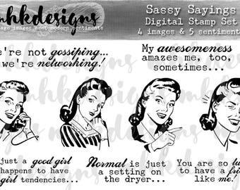 Sassy Sayings Digital Stamp Set