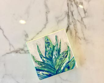 Extra small mini Blue Succulant magnet