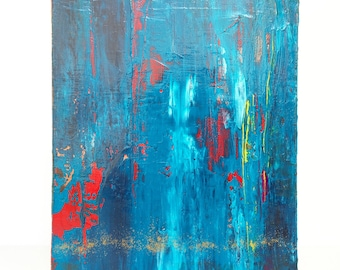 "Petite Abstract No. 73 - original 8"" x 10"" textured acrylic abstract painting"