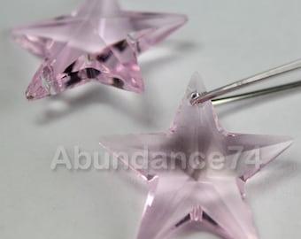 1pcs Swarovski Elements - Swarovski Crystal Pendant 6714 28mm Star Pendant - Light Rose