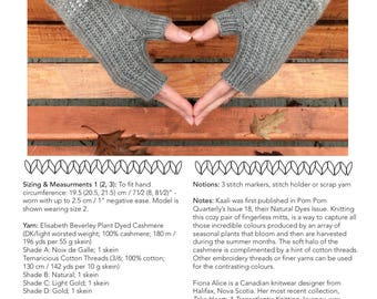 Kaali Fingerless Mitts - PDF Knitting Pattern