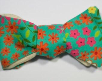 Floral Print Self-Tie Bow Tie