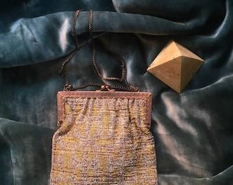 1920's Micro-beaded Geometric Purse