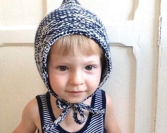 GASTON - Bonnet béguin en laine - tricot - taille de la naissance à 36 mois (20 coloris différents)