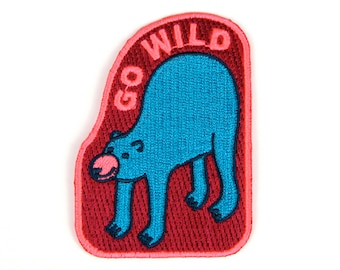 Go Wild Iron On Patch