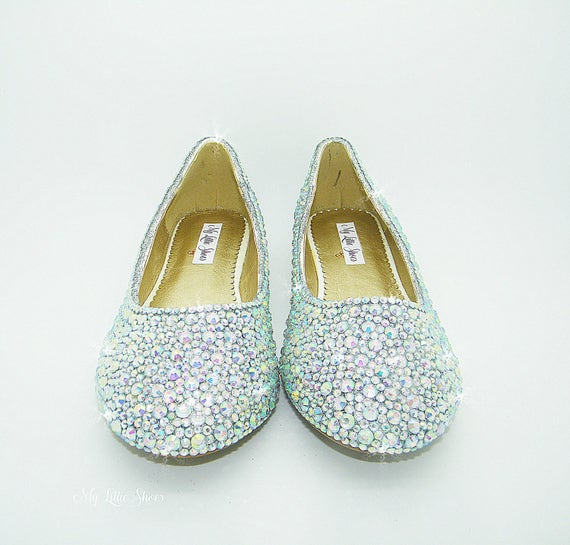 672dff444fe3 Bling shoes ~ Flat dolly shoes ~ Wedding Prom Special Occasion ...